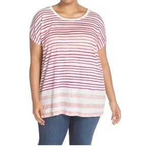 Two by Vince Camuto Sundeck Muse Relaxed Linen Tee